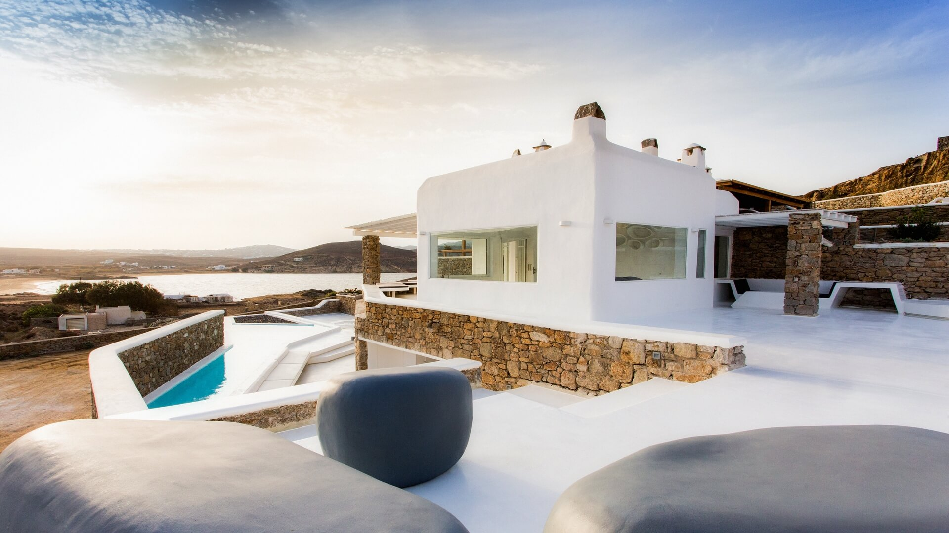 Best Island Beaches For Partying Mykonos St Barts: Villa Serenity With Private Pool In Mykonos