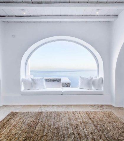 A Window to Mykonian Ambiance