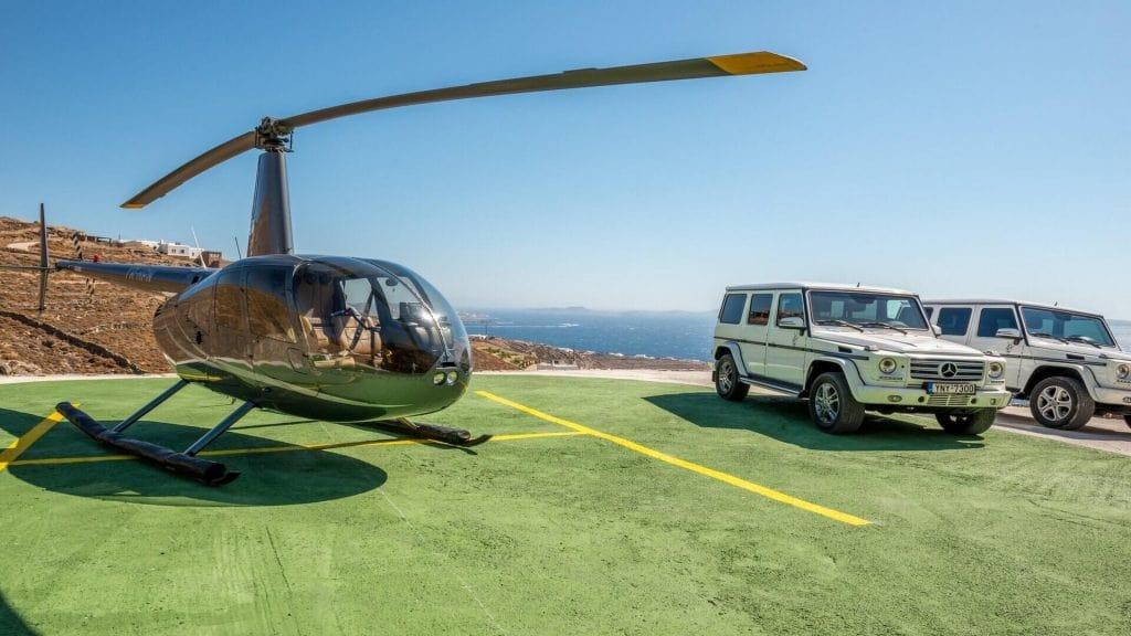 helicopter rent mykonos
