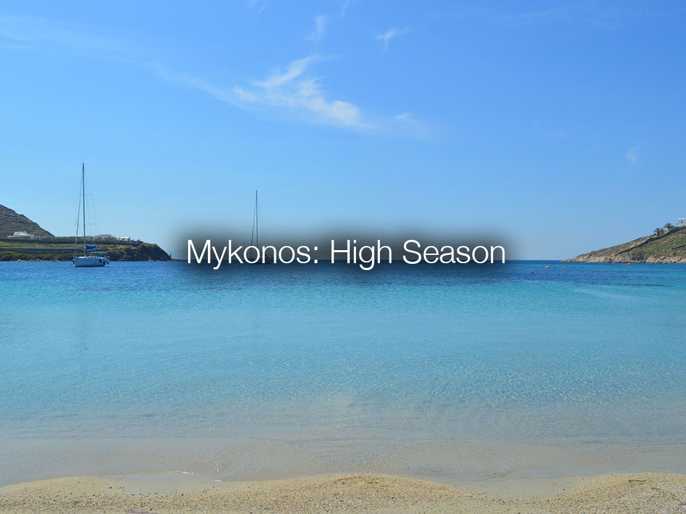 high season Mykonos