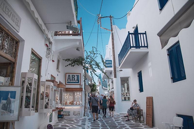 Autumn Mykonos Streets