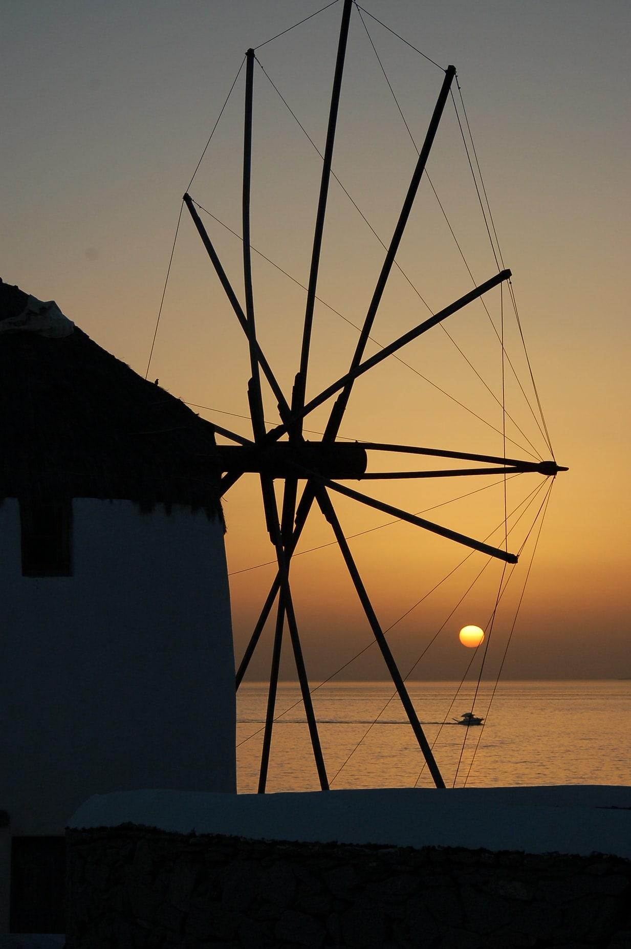 windmills Mykonos Greece
