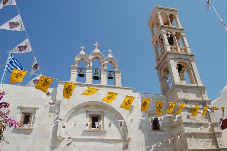 panagia tourliani monastery mykonos greece
